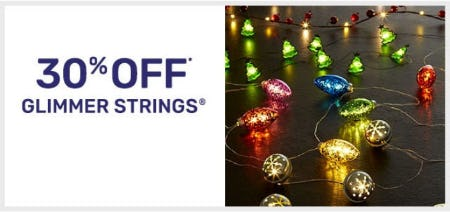30% Off Glimmer Strings from Pier 1 Imports