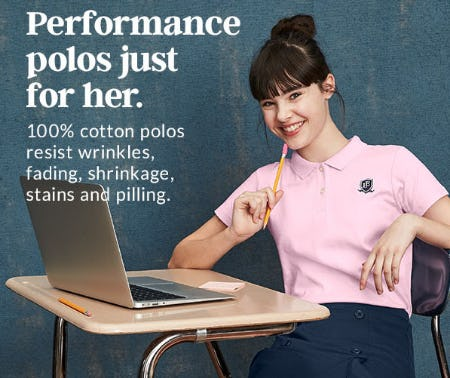 Performance Polos Just for Her from Lands' End