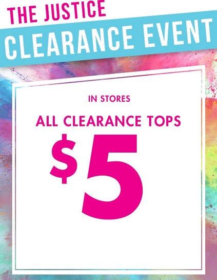 Cross Creek Mall   $5 All Clearance Tops