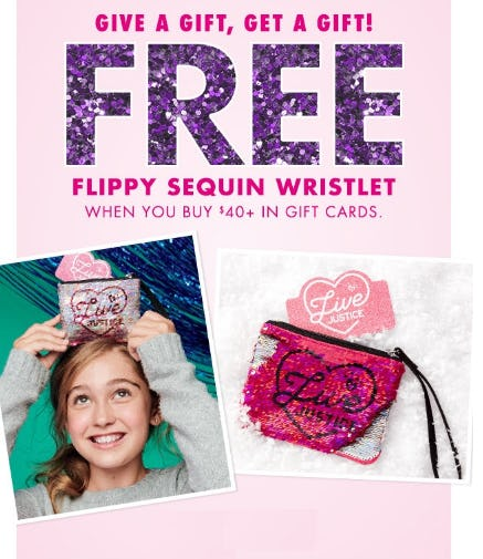 Free Flippy Sequin Wristlet from Justice