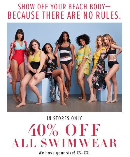 40% Off All Swimwear from New York & Company