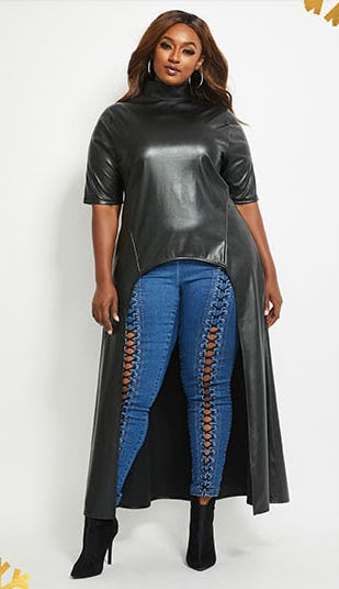 Fab in Faux Leather from Ashley Stewart