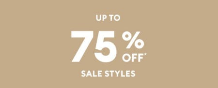 Up to 75% Off Sale Styles