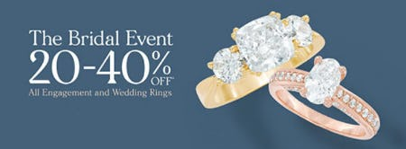 20-40% Off The Bridal Event from Zales Jewelers