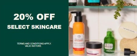 20% Off Select Skincare from The Body Shop