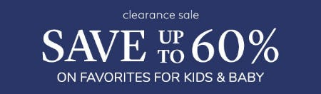 Clearance Sale from Pottery Barn Kids
