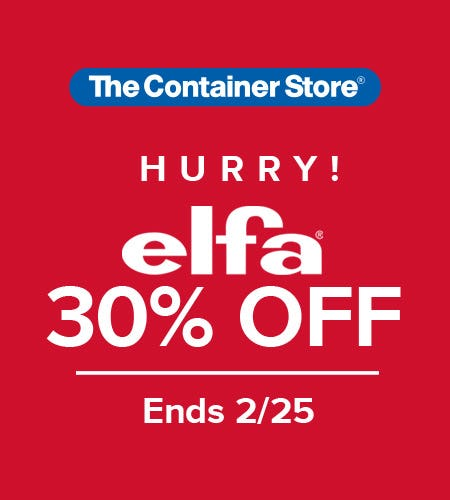 The Container Store Elfa Sale HURRY