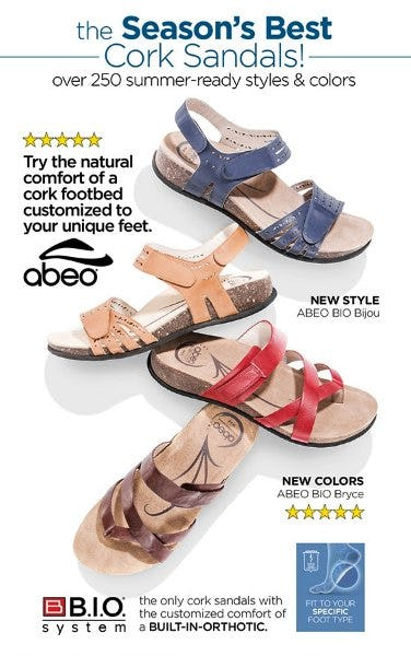 Season's Best Cork Sandals - ABEO, Taos, Birkenstock & More! from THE WALKING COMPANY