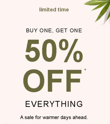 Buy One, Get One 50% Off Everything from maurices