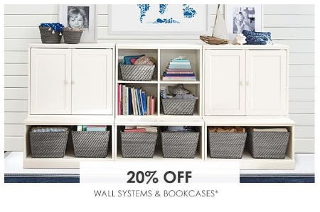20% Off Wall Systems & Bookcases from Pottery Barn Kids