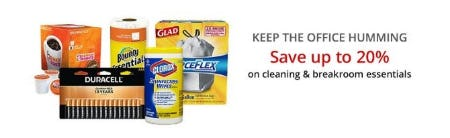 Up to 20% Off Cleaning & Breakroom Essentials from Office Depot