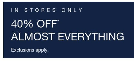 Almost 40% Off Everything from Gap