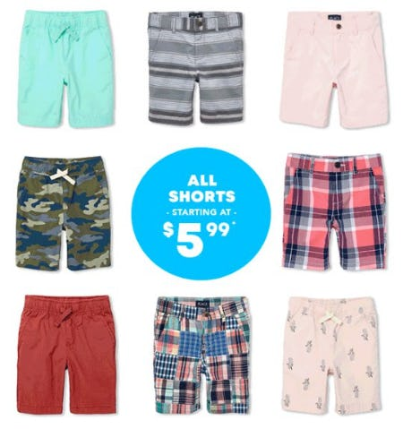 All Shorts Starting at $5.99 from The Children's Place