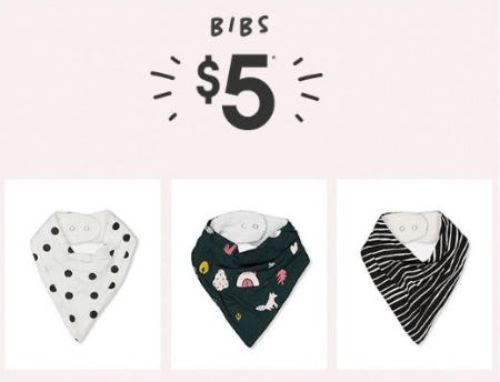 $5 Bibs from Cotton On