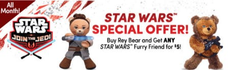 Star Wars Special Offer from Build-A-Bear Workshop