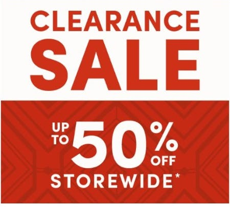 Up to 50% Off Storewide from Cost Plus World Market