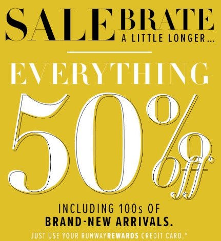 Everything 50% Off from New York & Company