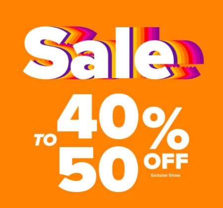 40% to 50% Off Sale from Rainbow