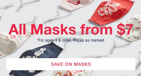All Masks from $7 from Gap