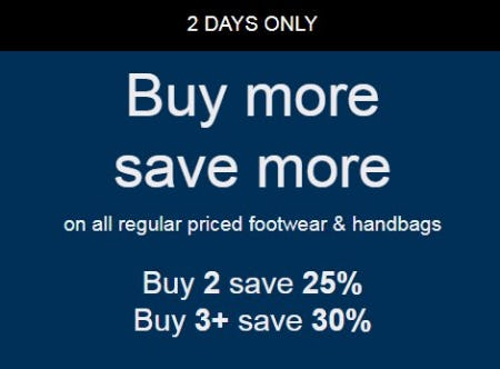 Buy More, Save More from ALDO