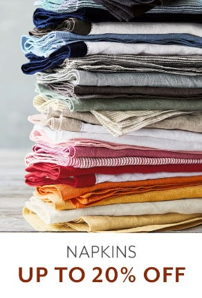 Up to 20% Off Napkins