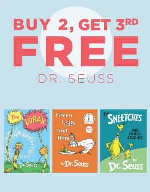 B2G3 Free Dr. Seuss from Books-A-Million