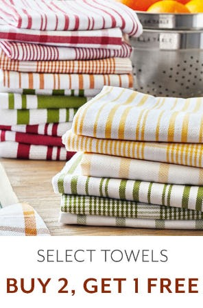 B2G1 Free Select Towels from Sur La Table