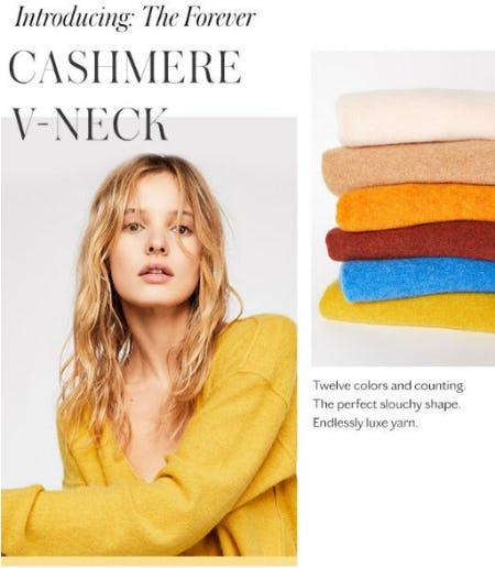 Introducing: The Forever Cashmere V-Neck