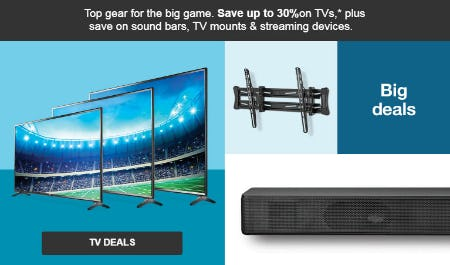 Up to 30% Off TV Deals