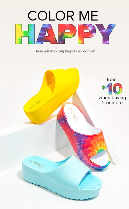 Women's Slides from $10 When Buying 2 or More from Rainbow