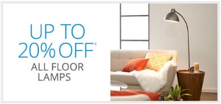 Up to 20% Off All Floor Lamps from Pier 1 Imports