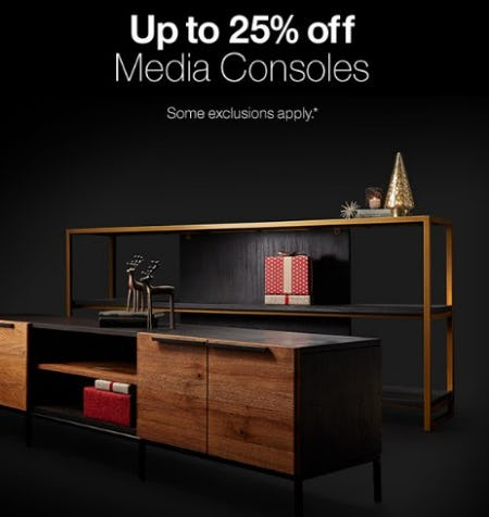 Up to 25% Off Media Consoles from Crate & Barrel