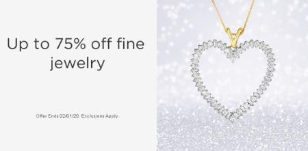 Up to 75% Off Fine Jewelry from Sears