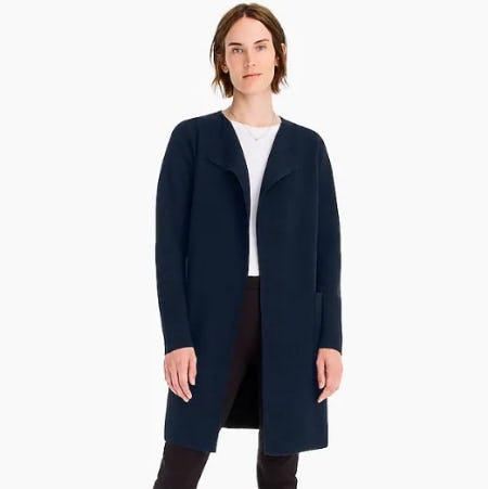 Juliette Collarless Sweater-Blazer