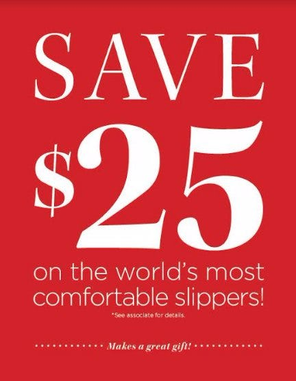 $25 Off ABEO Slippers
