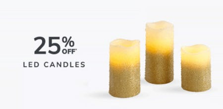 25% Off Led Candles from Pier 1 Imports