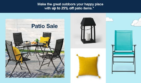 Up to 25% Off Patio Sale from Target