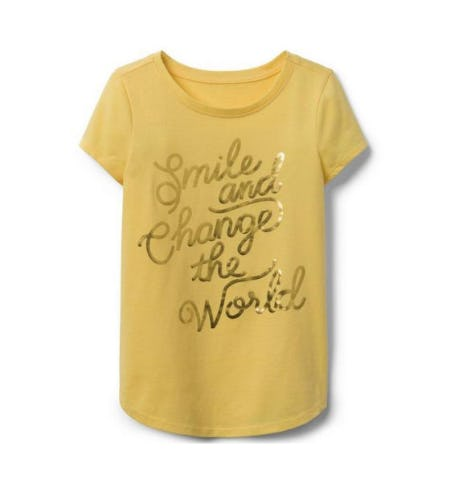 Smile & Change The World Tee from Crazy 8
