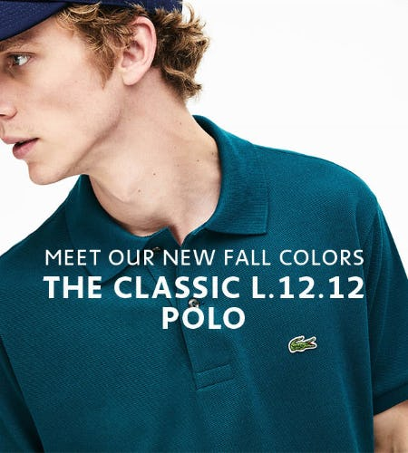 The Classic L.12.12 Polo in New Fall Colors from Lacoste