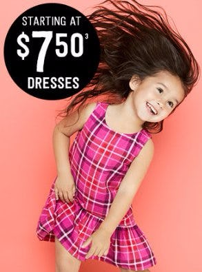 Dresses Starting at $7.50