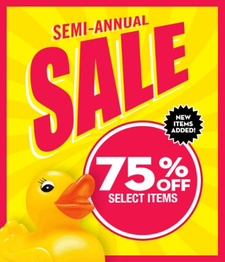75% Off Semi-Annual Sale