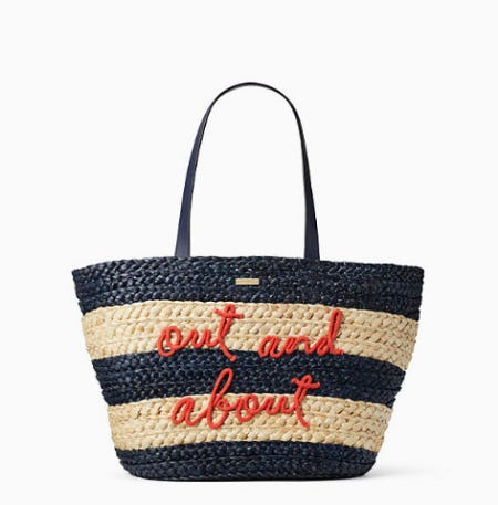 Shore Thing Out And About Straw Tote from kate spade new york