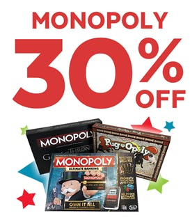 30% off Monopoly from Go! Calendars Games & Toys