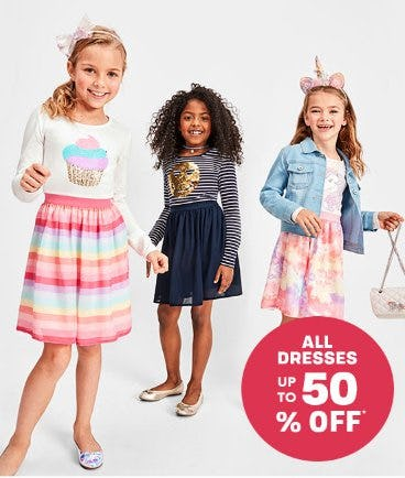 All Dresses up to 50% Off from The Children's Place Gymboree