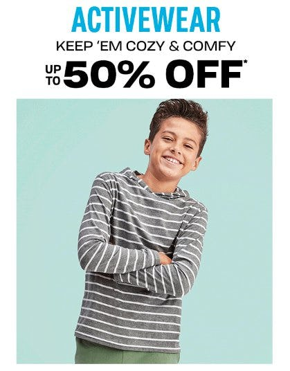 Activewear up to 50% Off from The Children's Place Gymboree