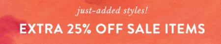 Extra 25% Off Sale from Anthropologie