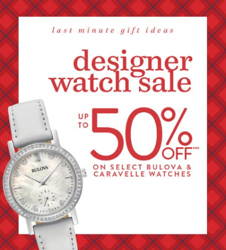 Up to 50% Off on Select Bulova and Caravelle Watches