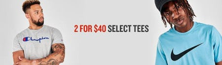 2 for $40 Select Tees from JD Sports