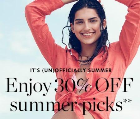Enjoy 30% Off Summer Picks