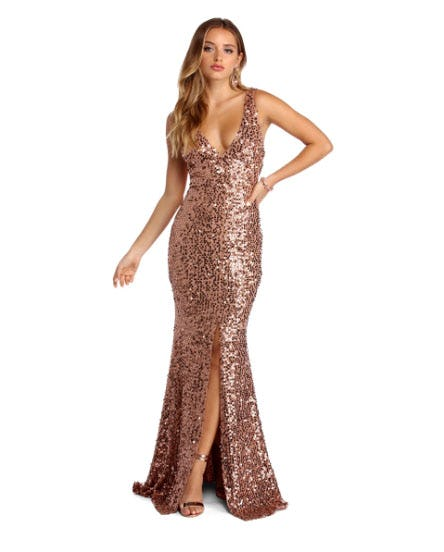 Kenna Sparkling Evening Dress from Windsor